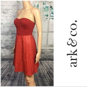 Adorable Red Strapless Dress By Ark & Co.